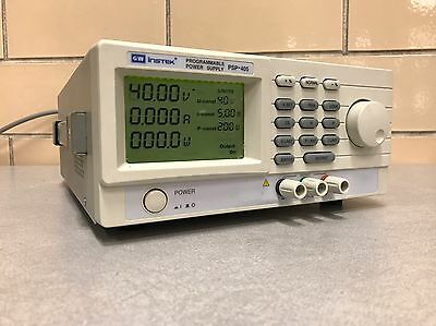 GW Instek PSP-405 LCD Switching DC Power Supply, 40V, 5A Used Tested Ships Free