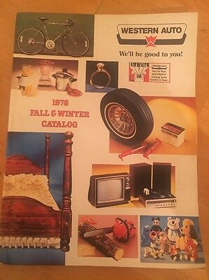 Vintage Western Auto Catalog 1978 Fall & Winter