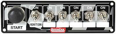 QUICKCAR RACING PRODUCTS 6-7/8 x 2 in Dash Mount Switch Panel P/N 50-165