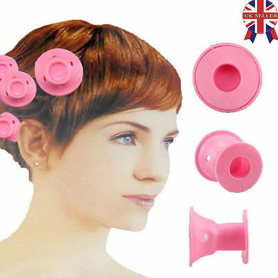 10pcs Beauty Women Roll Hair Maker Curlers Roller Soft Silicone DIY Cosmetic UK