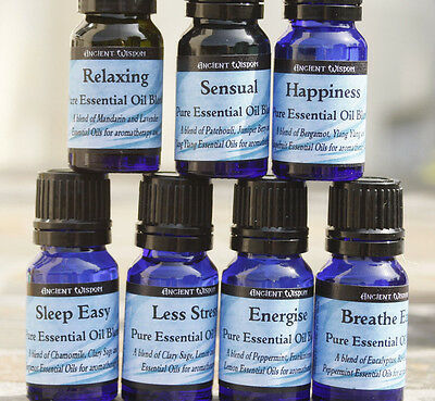 Pure Essential Oil Blends - To Promote Wellbeing - 10ML Sleep/Energise/ Breathe