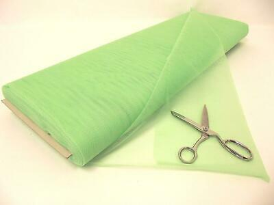 Dress Net 100% Polyester Tulle Fabric Material - LIGHT GREEN
