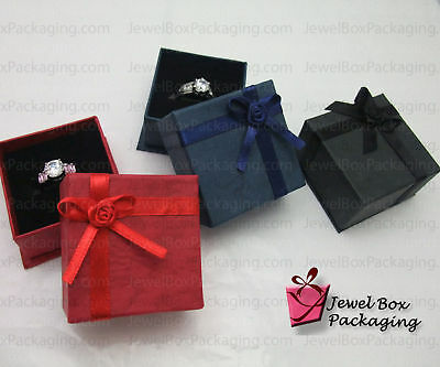 12x Paper/Cardboard Ring Jewelry Gift Boxes Square Shp