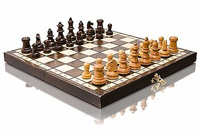Great Cherry UNIVERSAL Wooden Chess Set - 32 x 32cm