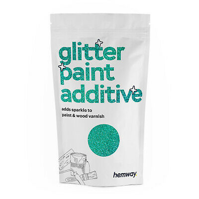 Hemway Turquoise Holographic Crystal Glitter for emulsion wall paint 100g DIY