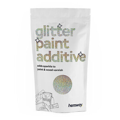 Hemway Silver Gold Holographic Glitter Paint Additive Crystals Emulsion Varnish
