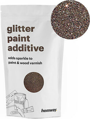 Hemway Bronze Crystal Glitter for emulsion wall paint 100g sparkle additive