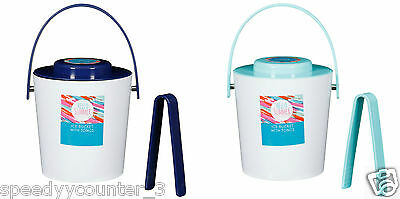 Outdoor Hot summer Picnic use Ice Bucket with Tongs various colours
