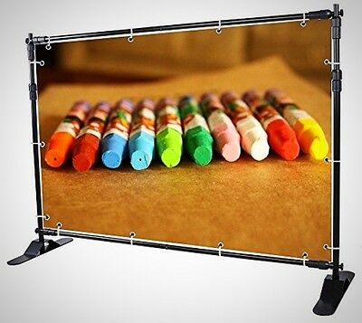 Display Backdrop Banner Stand Adjustable Telescopic Trade Show Wall Exhibitor