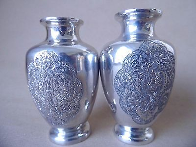 Beautiful Antique Persian/ Islamic 84 Solid Silver Vases