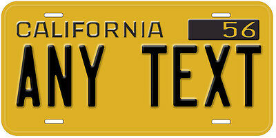 California 1956 - 1962 Any Text Personalized Novelty Car License Plate