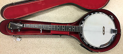El Degas Banjo with hard case, accessories (bundle)