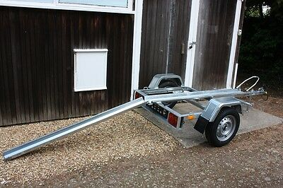 Single Motorcycle Motorbike Trailer Tema Moto 1 with Ramp 750kg