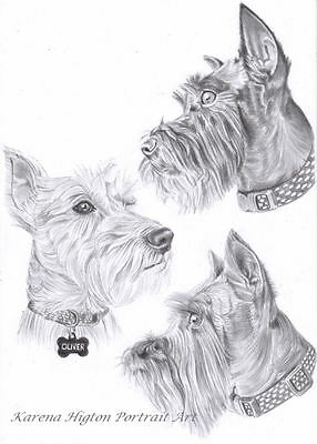 A4 PENCIL SKETCH PORTRAIT Child Family Pet Custom Drawing from Photo by Karena