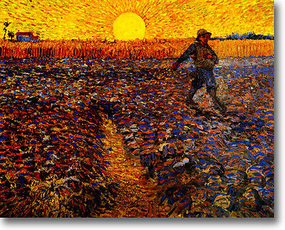 HUGE Van Gogh The Sower Stretched Canvas Giclee Art Print Repro ALL SIZES