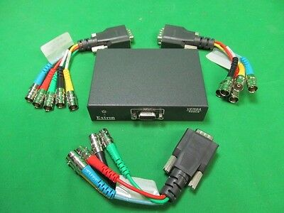 Extron P/2 DA2xi with 3 26-531-01 REC E Cable VGA Male DB15 - 5 X Female BNC RGB
