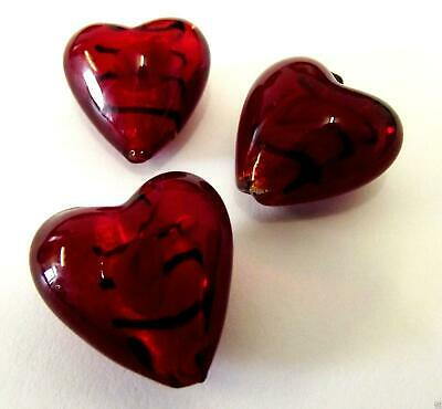 Impex Trimits Deluxe - Heart Rose Lamp Beads - Red