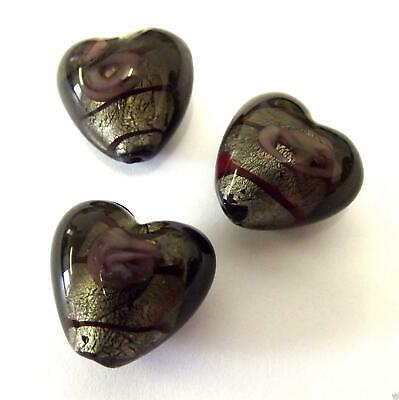 Impex Trimits Deluxe - Heart Rose Lamp Beads - Black