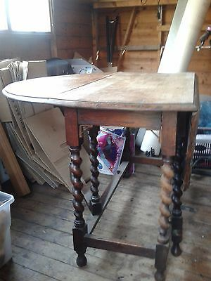 gate leg table with barley twist legs