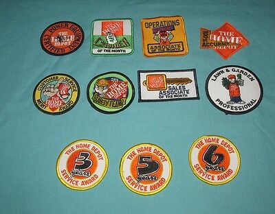 Lot Of 11 New = Patch / Badge = Home Depot Embroidered