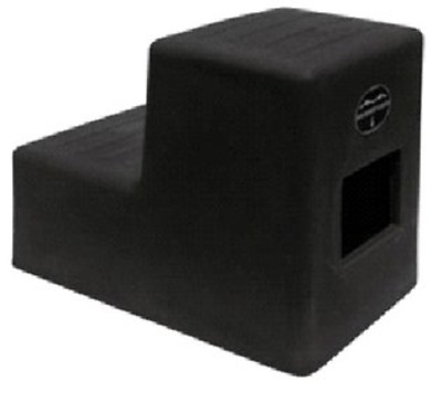 2 Step Horse Mounting block HCP w/ Storage Black MS-19 High Country Plastics