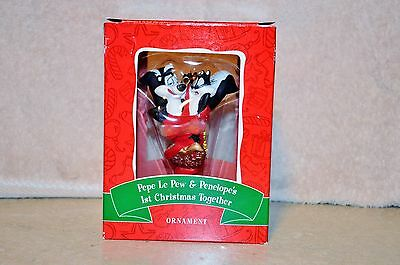 Warner Bros 2000 PePe Le Pew & Penelope's 1st Christmas Together Ornament MIB