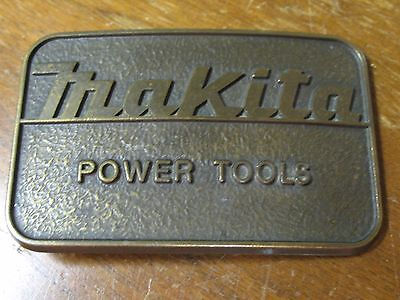 VIntage 1970s MAKITA POWER TOOLS Company Brass Belt Buckle Made In USA