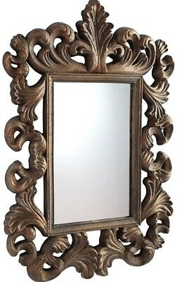 Ancathus Leaf Wall Mirror Antique Gold Large Vintage French Style Ornate $500