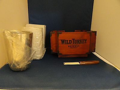 Wild Turkey Collection of Bar Tools Mixing Glass Tin Napkin Caddy Knife