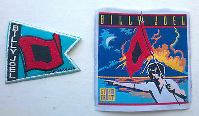 BILLY JOEL Set of TWO Unused 1989 Storm Front Patches, We Didn't Start the Fire