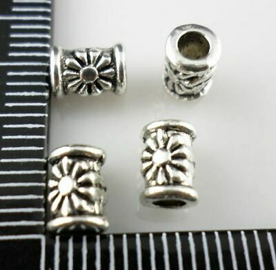 150pcs Tibetan silver crafted flower spacer beads h0084
