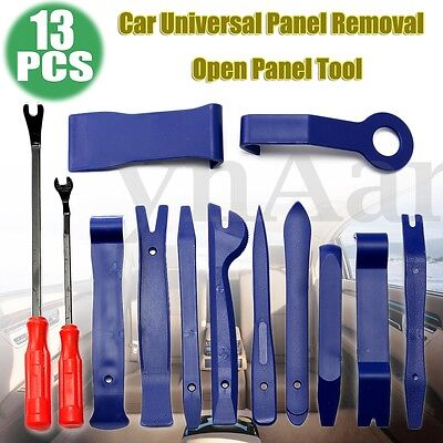 13pcs Car Audio Door Dashboard Tirm Clip Moulding Panel Install&Removal Pry Tool