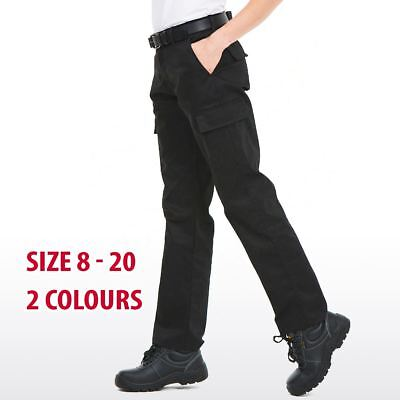 Ladies Cargo Work Trousers Women Combat Safety Action Workwear Pants Pockets Lot