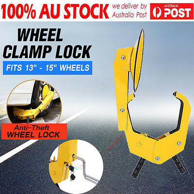 Auto Car Vehicle Wheel Lock Clamp Anti-Theft Security Heavy Duty Safety 2 Keys