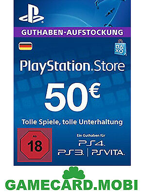 PlayStation Network 50 EUR Card Code DE PSN PS4 PS3 - Guthaben 50€ Key - 50 EURO