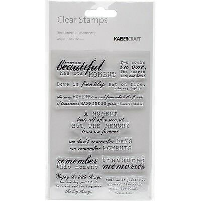 """KC - Clear Stamp 4""""X6"""" - Moments"""