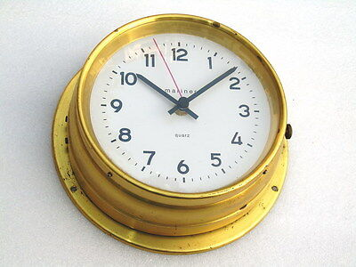 Vintage All Brass 9 Inches Mariner Quartz Ship Boat Yacht Nautical Marine Clock