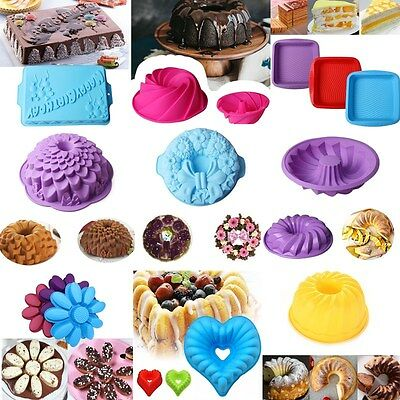 Large Silicone Cake Pan Mold Bread Bakeware Baking DIY Pan Oven Soap Mould