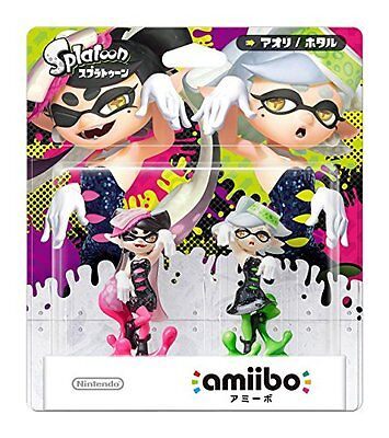 Nintendo amiibo Splatoon Squid Sisters Pack Set Callie & Marie Wii U JAPAN