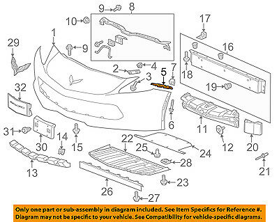 Chevrolet GM OEM Volt Front Bumper Grille Grill-Side Retainer Right 22782751