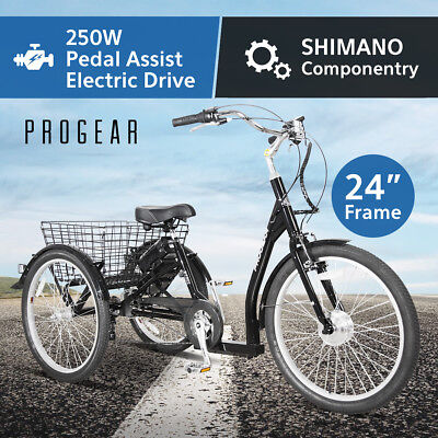 "Electric Bike 24"" Adult Trike Tricycle 250W 36V Battery EBIKE E-BIKE"