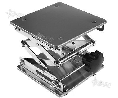 Stainless Steel Lab Stand Table Scissor Lift laboratory Jiffy Jack 150*150mm