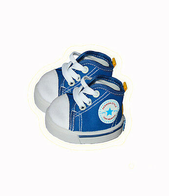 "Blue Canvas Tennis Trainers Teddy Shoes fits 15"" Build a Beaer"