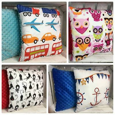 Fashion by DUDA reversible PILLOW Baby Kids  bedding COTTON& MINKY