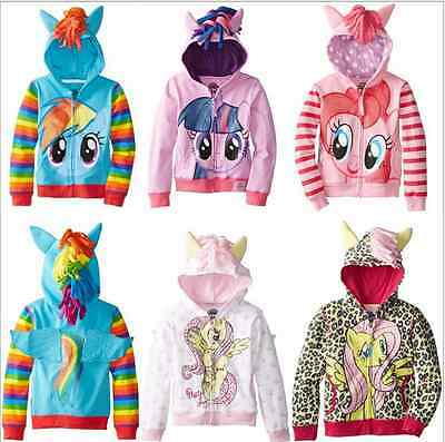 Girls my little pony Hoodie NEW Wings Kids Jacket Sweater Twilight Rainbow Dash