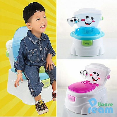 2 in 1 Toddler Potty Training Seat Baby Kids Fun Toilet Trainer Chair Pink