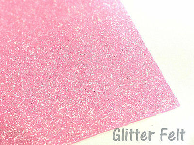 Glitter Felt Candy Pink Glitter Felt Sheet for Hair Bows and Felt Craft