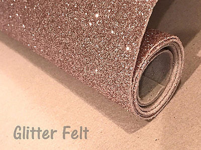 Glitter Felt Champagne Gold Glitter Felt Sheet for Hair Bows and Felt Craft
