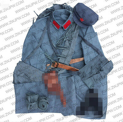 ww2 Chinese red army suit cotton with accessories nostalgic uniform