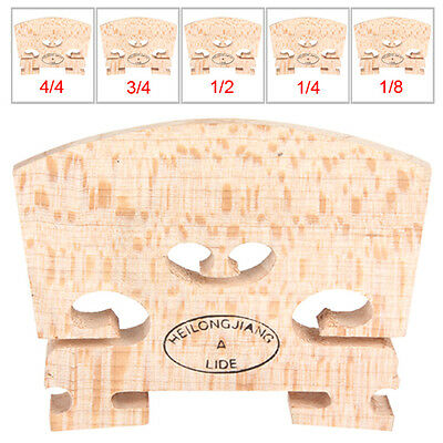 1/8 and 1/4 and 1/2 and 3/4 and 4/4 Size Regular Type Maple Wood Violin Bridge